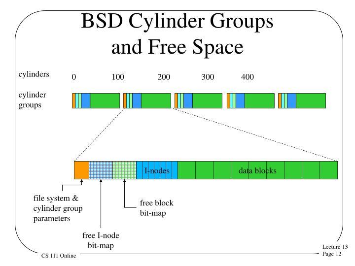BSD Cylinder Groups