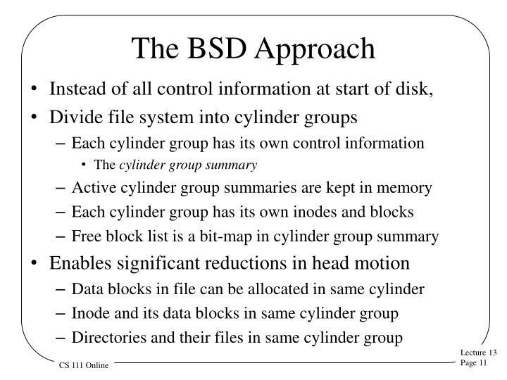 The BSD Approach