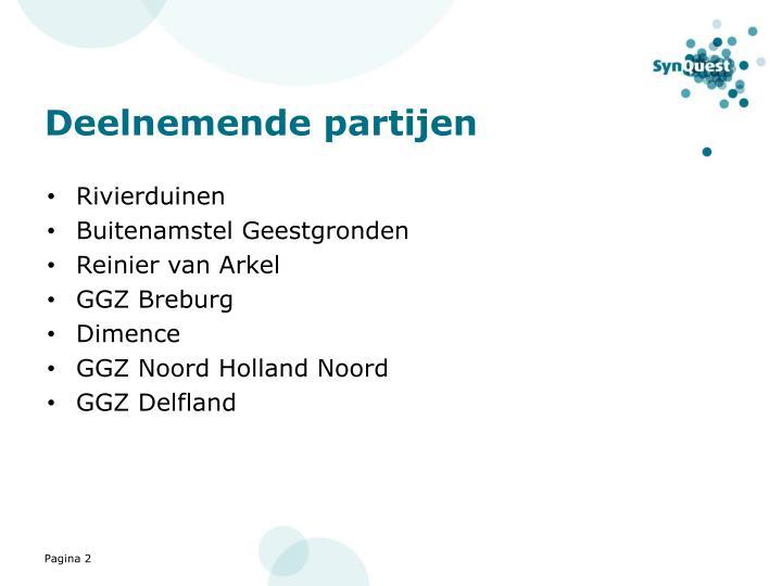 Deelnemende partijen