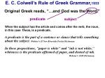 e c colwell s rule of greek grammar 1933
