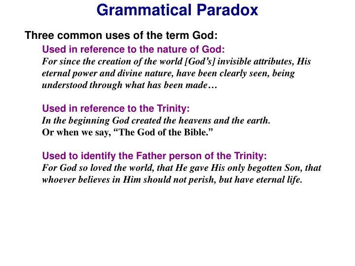 Grammatical Paradox