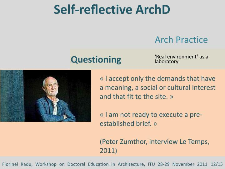 Self-reflective ArchD