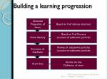 building a learning progression