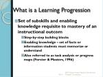 what is a learning progression