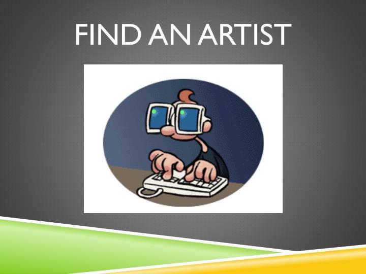 FIND AN ARTIST