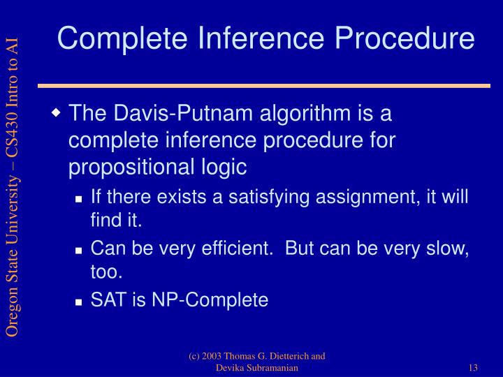 Complete Inference Procedure