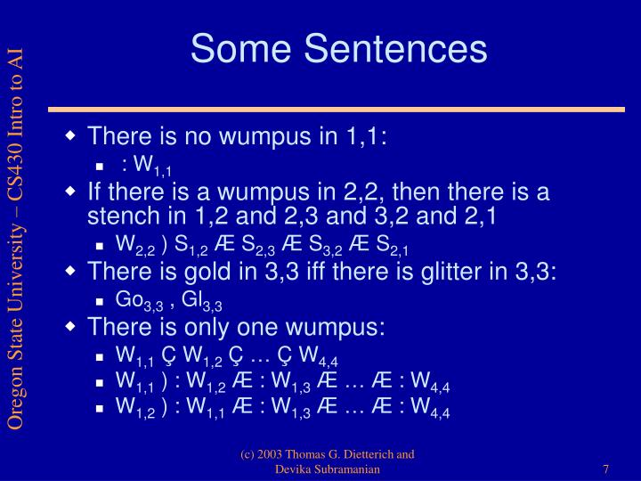 Some Sentences