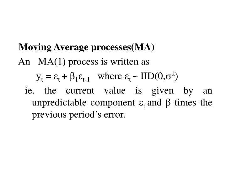 Moving Average processes(MA)