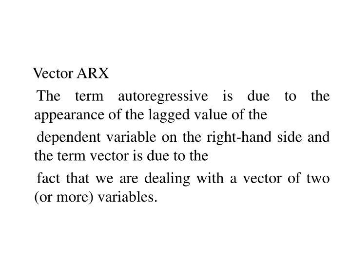 Vector ARX