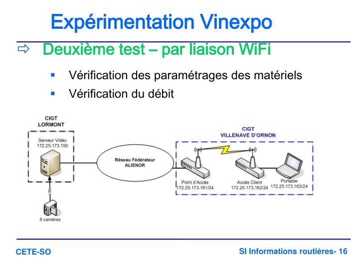 Expérimentation Vinexpo
