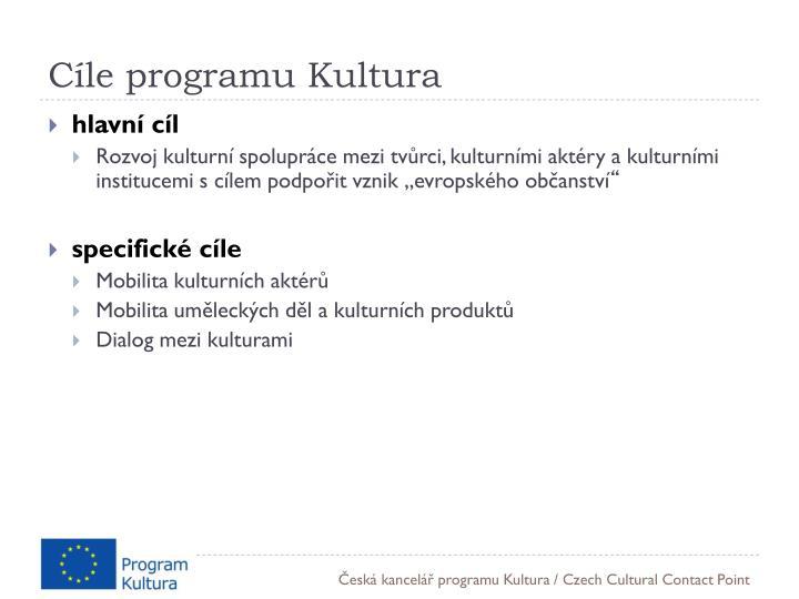 Cíle programu Kultura