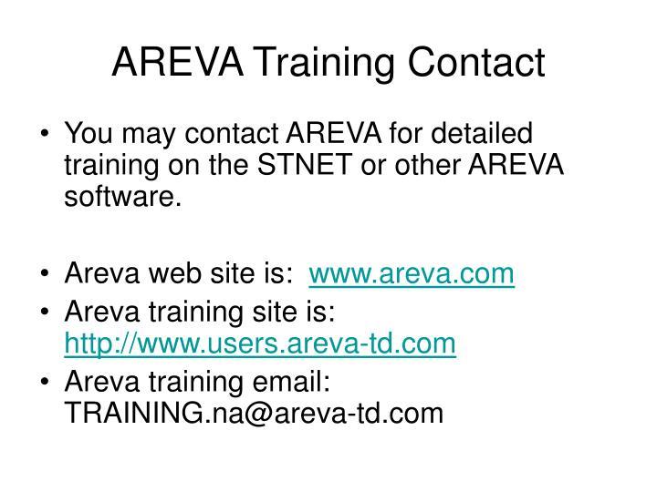 AREVA Training Contact