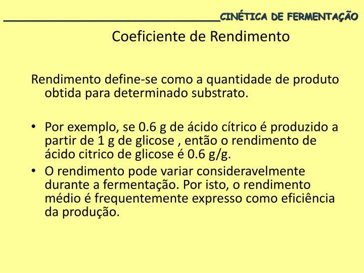 Coeficiente de Rendimento