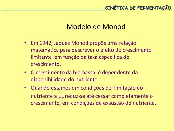Modelo de Monod