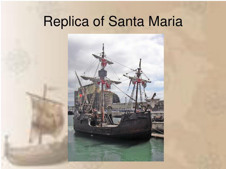 Replica of Santa Maria