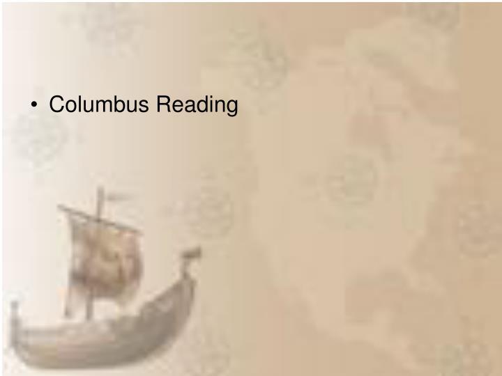 Columbus Reading