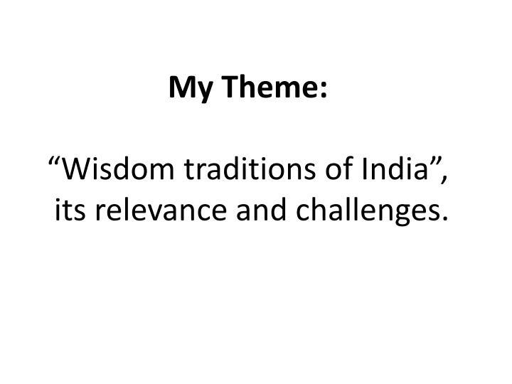 My Theme: