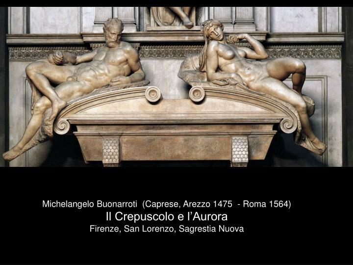 Michelangelo Buonarroti  (Caprese, Arezzo 1475  - Roma 1564)