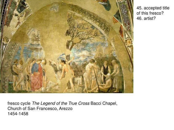 45. accepted title of this fresco?