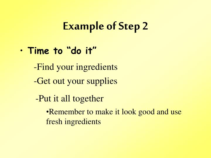 Example of Step 2