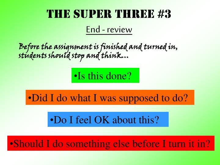 THE Super three #3