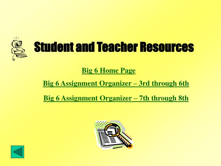 Student and Teacher Resources