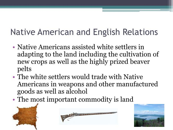 Native American and English Relations