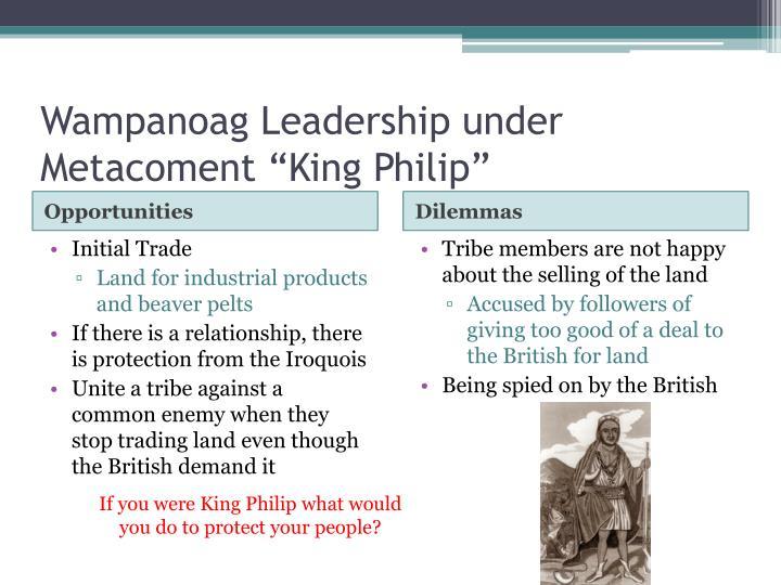 Wampanoag Leadership under