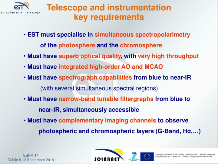 Telescope and instrumentation