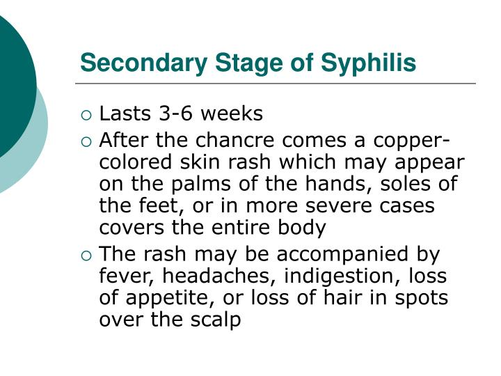 Secondary Stage of Syphilis