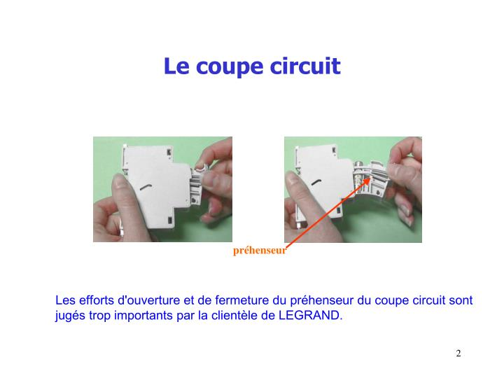 Le coupe circuit