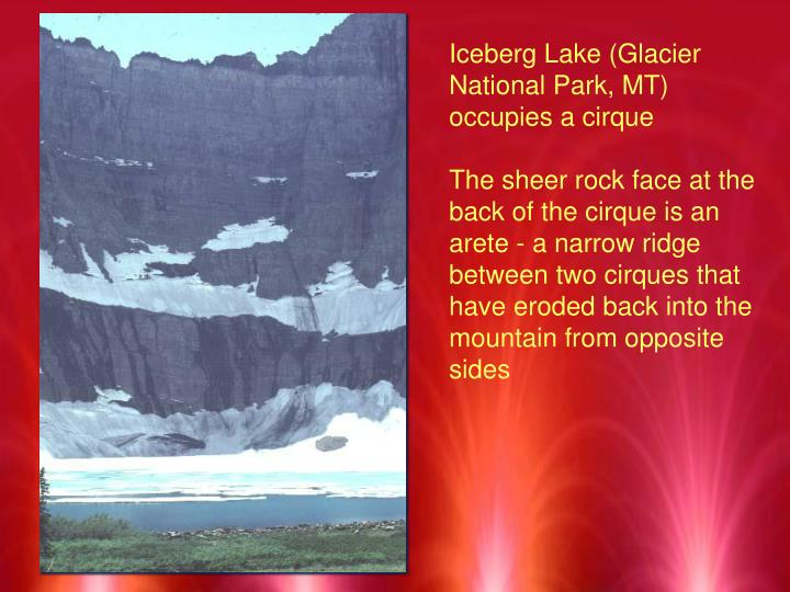 Iceberg Lake (Glacier National Park, MT) occupies a cirque