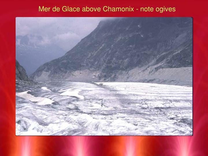 Mer de Glace above Chamonix - note ogives