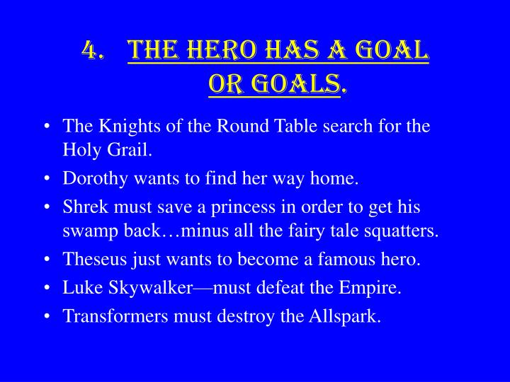 The Hero has a goal