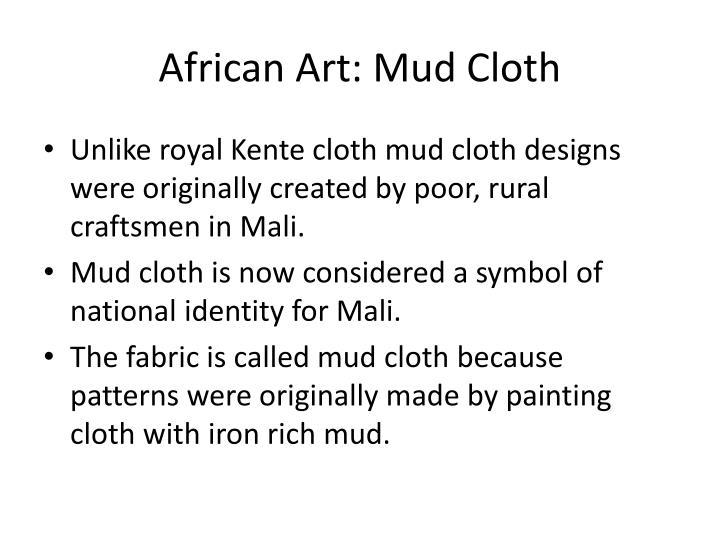 African Art: Mud Cloth