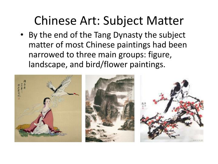 Chinese Art: Subject Matter