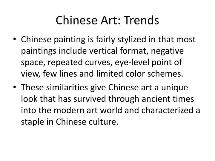 Chinese Art: Trends