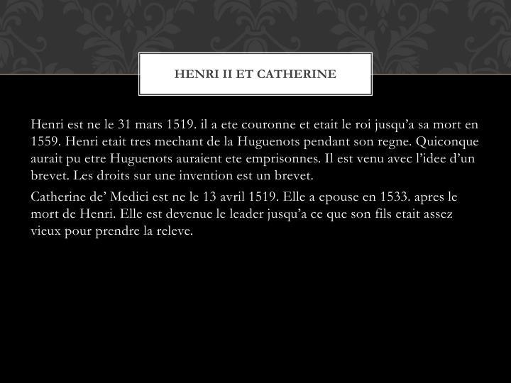 Henri II et Catherine