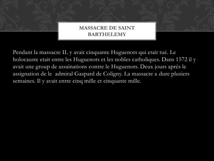 Massacre de saint barthelemy