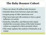 the baby boomer cohort