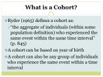 what is a cohort