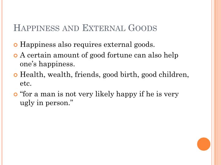 Happiness and External Goods