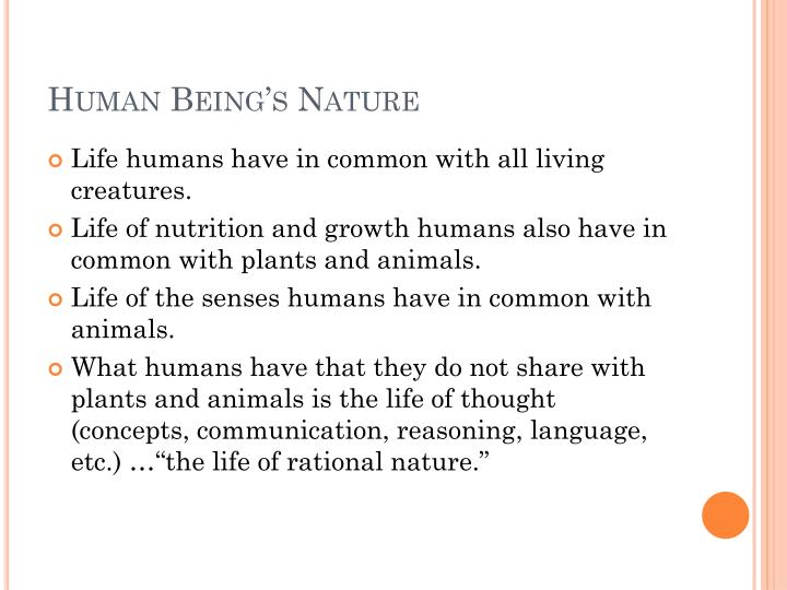 Human Being's Nature