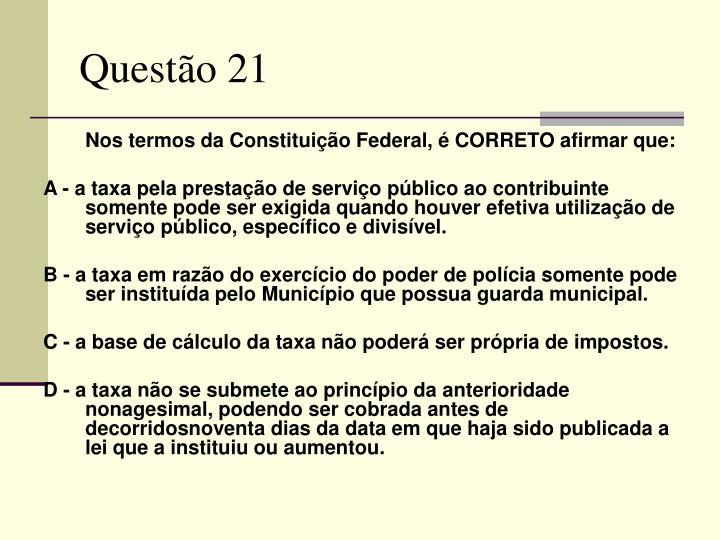 Questão 21