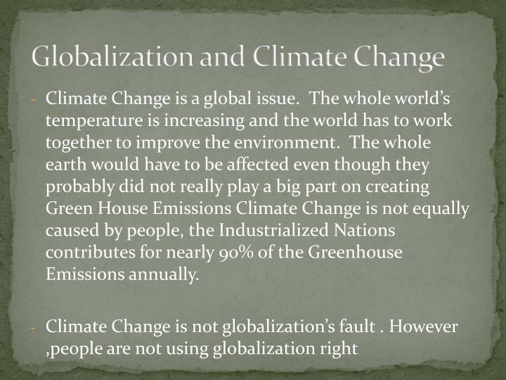 Globalization and Climate Change