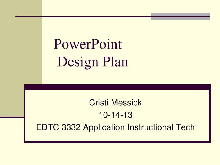 powerpoint design plan