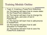 training module outline2