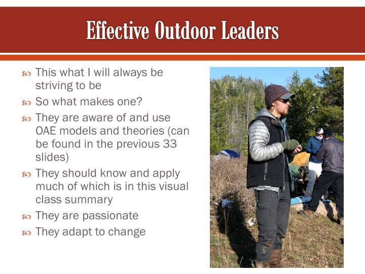 Effective Outdoor Leaders