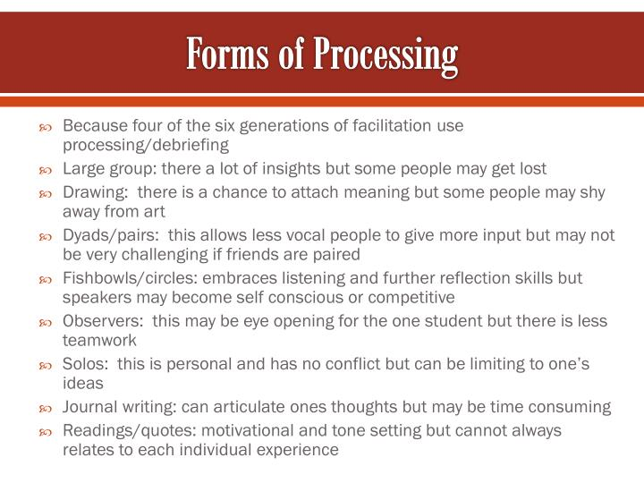 Forms of Processing