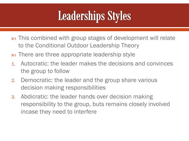 Leaderships Styles